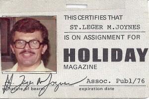 Monty Joynes HOLIDAY press card