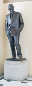 This statue of Will Rogers was given to the National Statuary Hall Collection by Oklahoma in 1939.