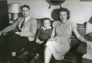 Dad, me, and Mother around the end of the war in 1945