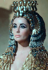 Elizabeth Taylor as she appeared in Cleopatra