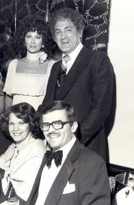 The couples Joynes and Deckers at a Metro Magazine party