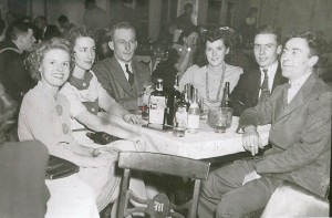 Mother (far left) and Dad (far right) in their pre-WWII party days