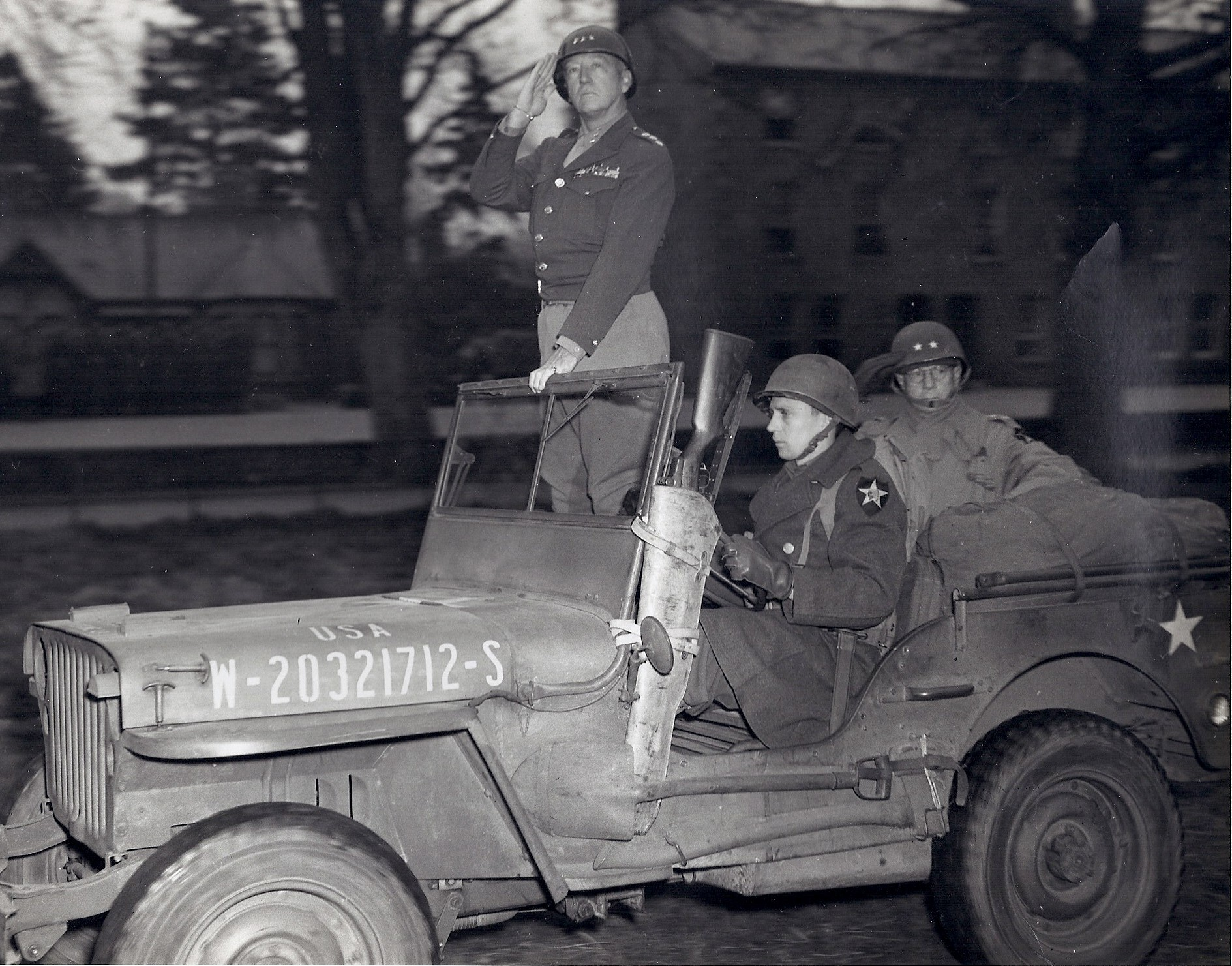 George patton jeep accident