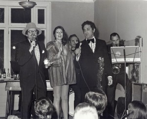 Pete and I performing our cabaret act