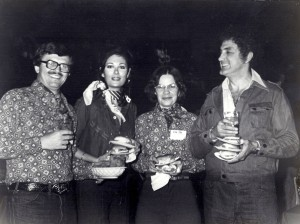 The couples Joynes and Deckers at a Western Night gala