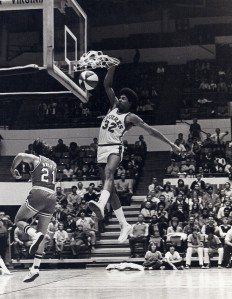 Dr. J slam-dunks as a Virginia Squire
