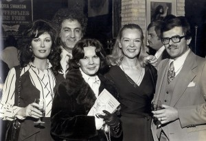 Monty and wife Theresa with their best friends Peter and Bess Decker pose with actress Anne Francis at a Tidewater Dinner Theater reception