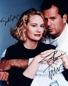 Cybill Shepherd and Moonlighting co-star Bruce Willis