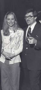 Monty hams it up with the then-27-year-old actress Cybill Shepherd
