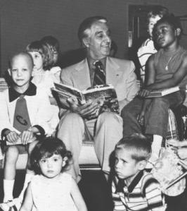 Danny Thomas with some of the children at St. Jude