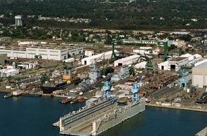 Newport News Shipyard in 1994