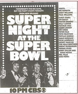The program from Super Night at the Super Bowl  1978