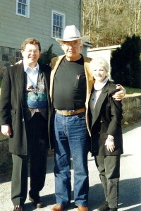 Monty and Pat with Scott Momaday at the Playwrights Project in Ashe County